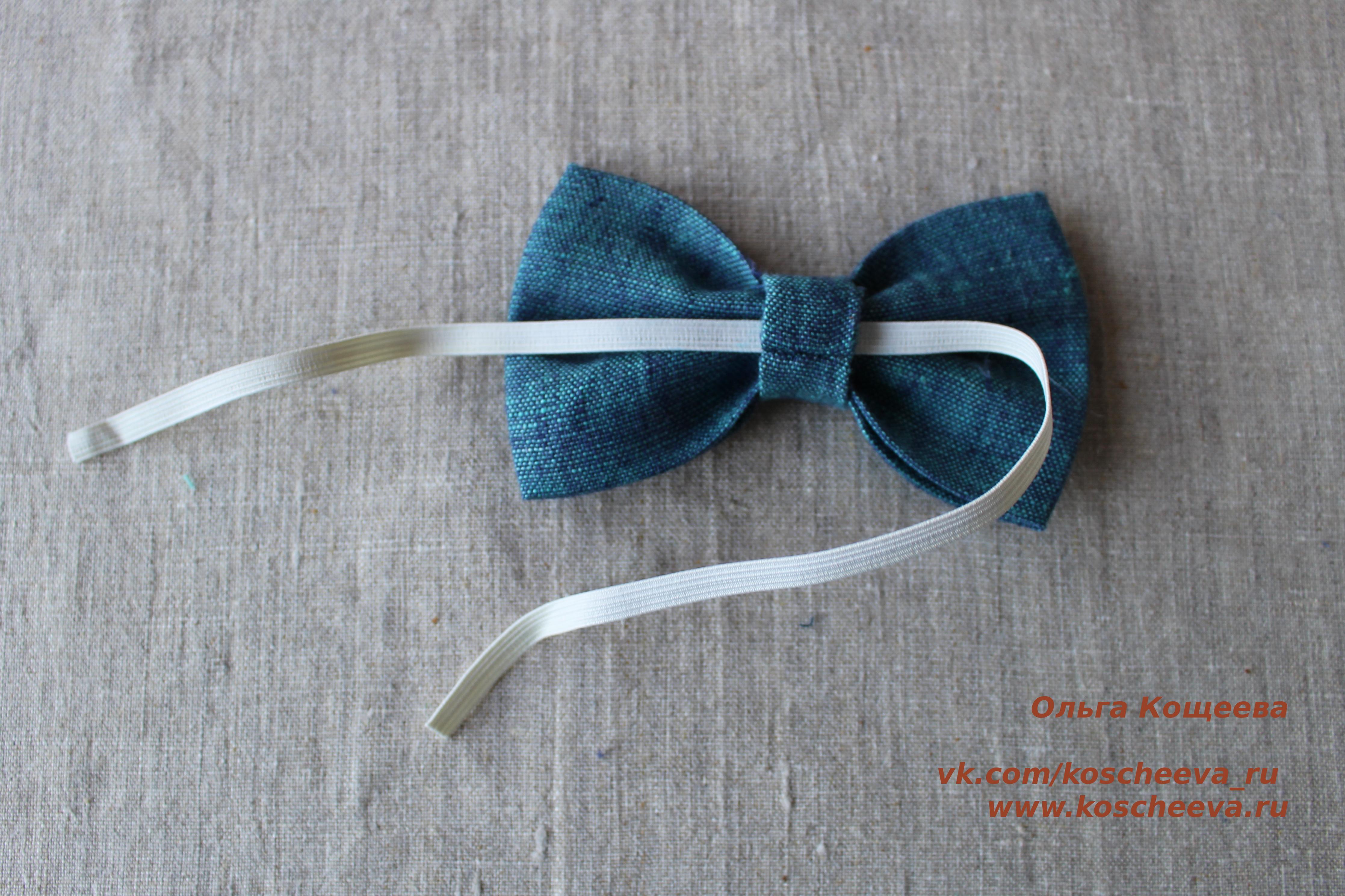 Как сшить галстук на резинке ребенку своими руками